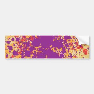 Colorful paint splattters bumper sticker