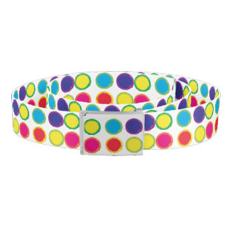 Colorful Painted Circles Belt