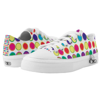 Colorful Painted Circles Low Tops