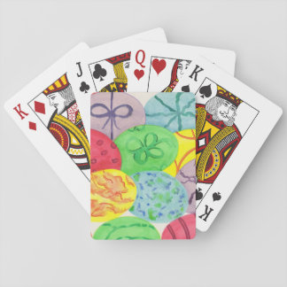 Colorful Painted Easter Eggs Playing Cards
