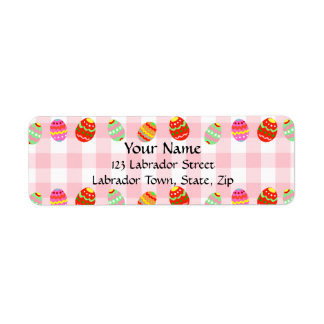 Colorful Painted Easter Eggs Return Address Label