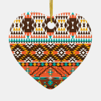 colorful painted pattern ceramic heart decoration