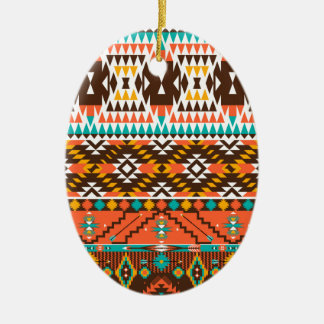 colorful painted pattern ceramic oval decoration