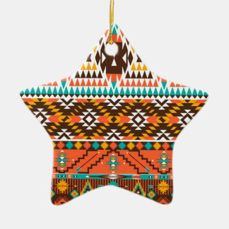 colorful painted pattern ceramic star decoration