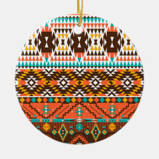 colorful painted pattern round ceramic decoration