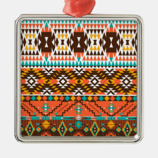 colorful painted pattern Silver-Colored square decoration
