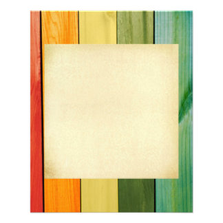 colorful, painted,wood walls,trendy,modern,pattern 11.5 cm x 14 cm flyer