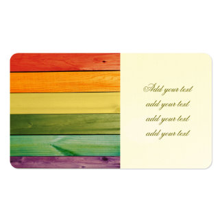 colorful, painted,wood walls,trendy,modern,pattern Double-Sided standard business cards (Pack of 100)