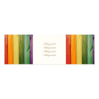 colorful, painted,wood walls,trendy,modern,pattern pack of skinny business cards