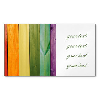 colorful, painted,wood walls,trendy,modern,pattern magnetic business cards (Pack of 25)