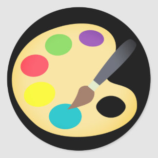 Colorful Painting Classic Round Sticker