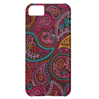 Colorful paisley india pattern art iPhone 5C case