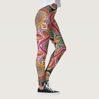 Colorful Paisley Leggings