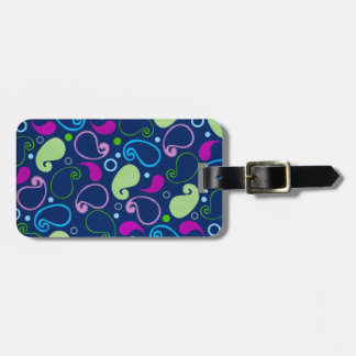 Colorful Paisley Luggage Tag