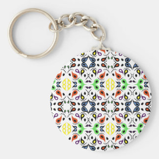 Colorful Paisley Pattern Keychains