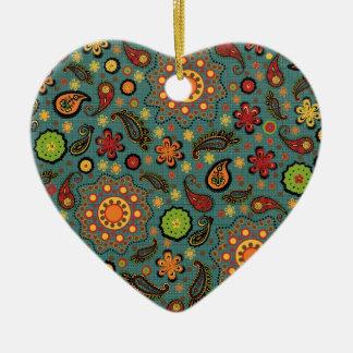 Colorful Paisley Print Ornament