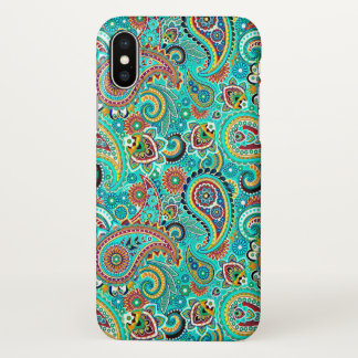 Colorful Paisley Seamless Pattern iPhone X Case