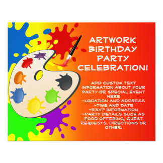 Colorful Palate Art Party Custom Flyer