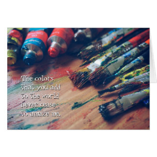 Colorful Palette Artist Greeting Card
