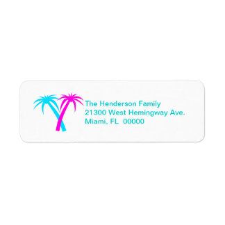 Colorful Palms Return Address Label