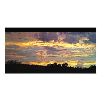 Colorful Panoramic Sunset Personalized Photo Card