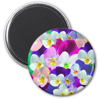 Colorful Pansies Magnet