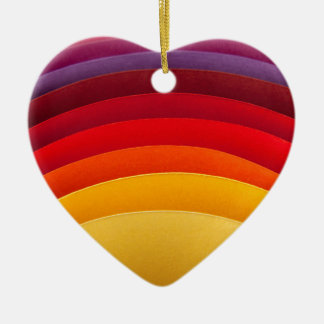 Colorful paper card stoc ceramic heart decoration