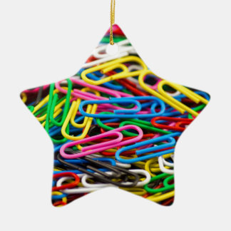 Colorful paper clips christmas tree ornaments