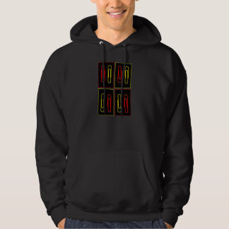 colorful paper clips hoodie