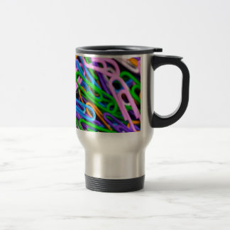 colorful paper clips mug