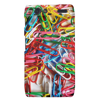 Colorful Paper Clips Office Supply Gifts Motorola Droid RAZR Covers