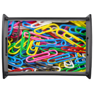 Colorful paper clips service trays
