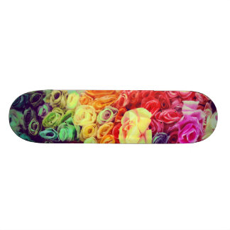 Colorful Paper Flowers Photo Skate Deck