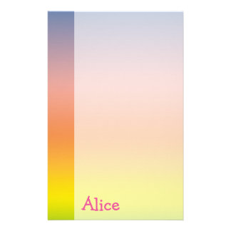 Colorful paper with name - Stationery