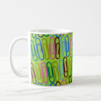 Colorful paperclips pattern coffee mug