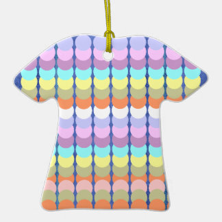 Colorful Papercraft : Punch Dot Patchwork Double-Sided T-Shirt Ceramic Christmas Ornament