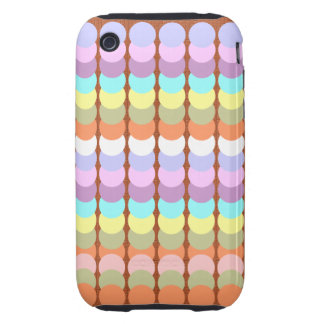 Colorful Papercraft : Punch Dot Patchwork iPhone 3 Tough Case