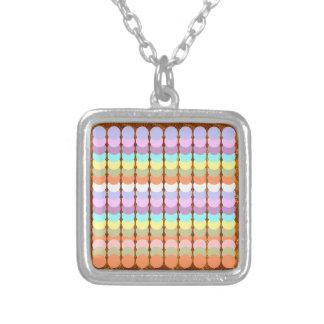 Colorful Papercraft : Punch Dot Patchwork Square Pendant Necklace