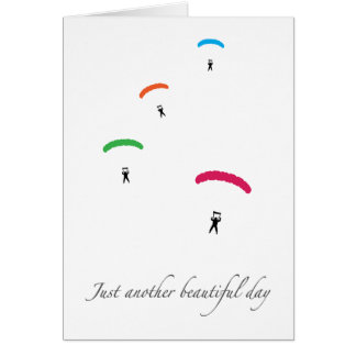 Colorful Parachutes Card