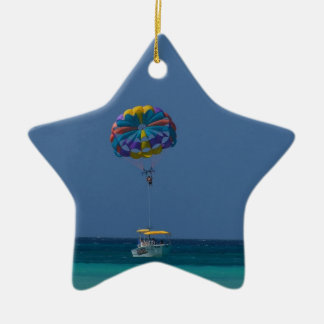 Colorful Parasailing Christmas Ornament