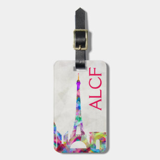 Colorful Paris Luggage Tag
