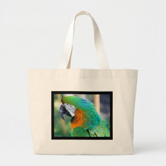Colorful Parrot Canvas Bag