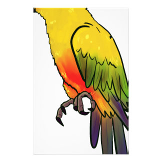Colorful Parrot Stationery