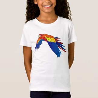 Colorful parrot t-shirt