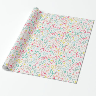 Colorful Party Confetti Wrapping Paper
