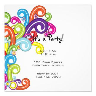 Colorful Party Invitation