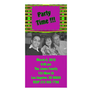 Colorful Party Invitation Photo Card Template