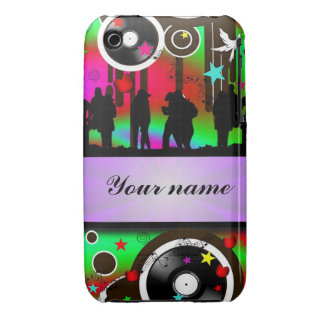 Colorful party people dancing Case-Mate iPhone 3 case