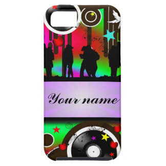 Colorful party people dancing case for the iPhone 5