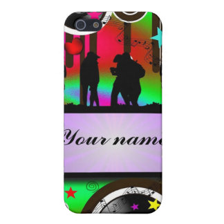 Colorful party people dancing cover for iPhone 5/5S